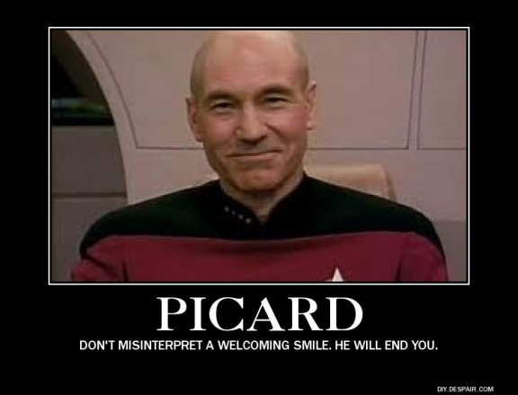 When Picard smiles... you're in trouble