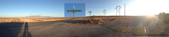 This is a real intersection in Rio Rancho, NM